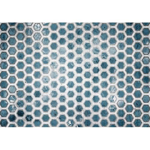 Consalnet Papiertapete »Blaue Sechsecke«, geometrisch