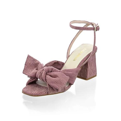 Alba Moda, Sandalette im Plissee-Design, rosé