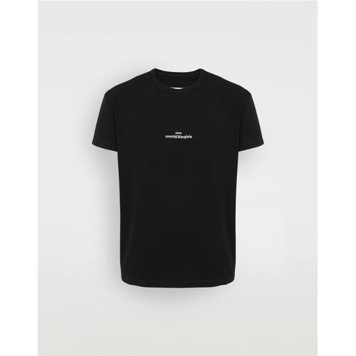 Maison Margiela T-Shirt mit verzerrtem Logo