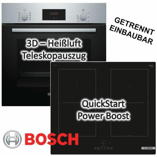 Einbau-Backofen HBF114BSO mit Induktionskochfeld PVQ611BB5E - autark, 60 cm - Bosch