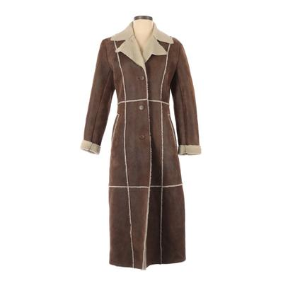 Wilsons Leather Coat: Brown Solid Jackets & Outerwear - Size X-Small