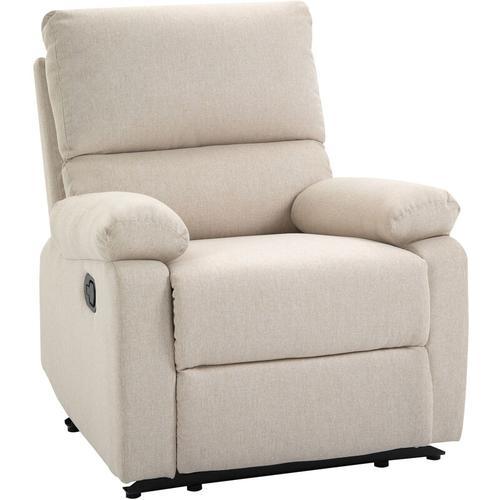 HOMCOM® Relaxsessel Liegesessel TV Sessel Einzelsofa 150° neigbar Fernsehsessel Leinen - beige