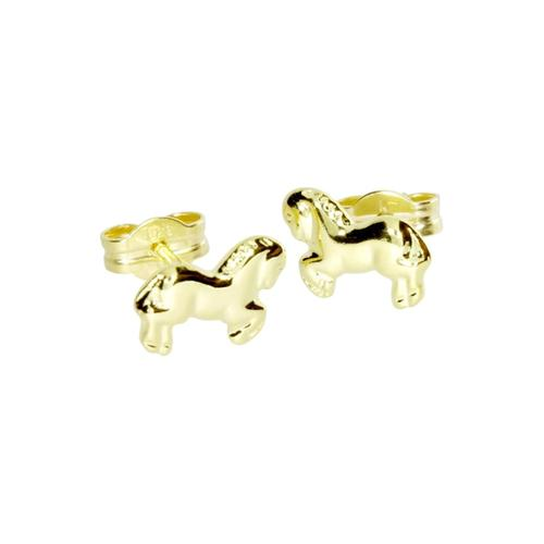 Ohrstecker - Pferd - Gold 333/000 - OSTSEE-SCHMUCK gold