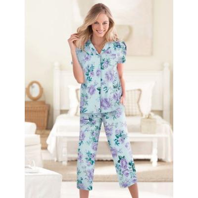 Women's Karen Neuburger® Spring Meadow Floral Capri Pajamas, Lavender Floral Purple P-L