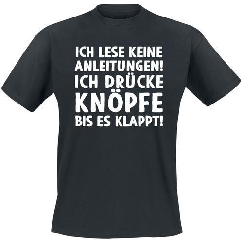 Ich lese keine Anleitungen! Herren-T-Shirt - schwarz