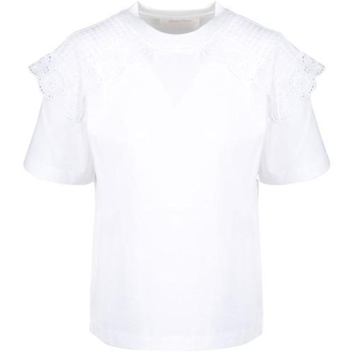 See By Chloé Gesticktes Jakobsmuschel-T-Shirt