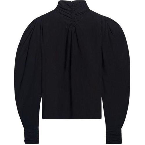 Ba&sh Scintille long sleeves high collar top