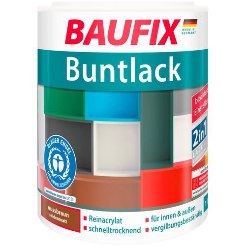 Baufix Acryl-Buntlack, 1 Liter, braun Lacke Farben Bauen Renovieren Acryl-Buntlack