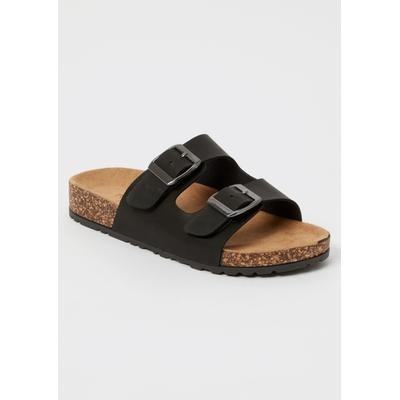 Rue21 Womens Black Double Buckle Strap Sandals - Size 7