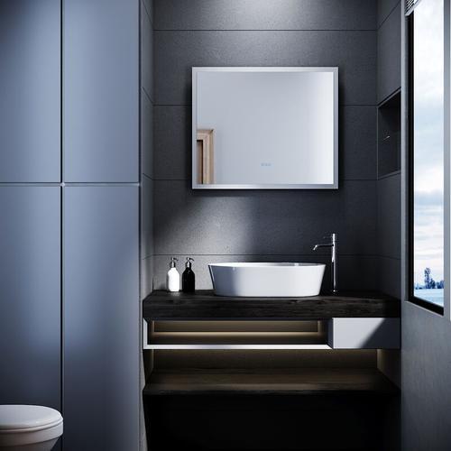 LED Badspiegel mit Beleuchtung 60x50cm Touch Beschlagfrei Bluetooth Wandspiegel - Sonni