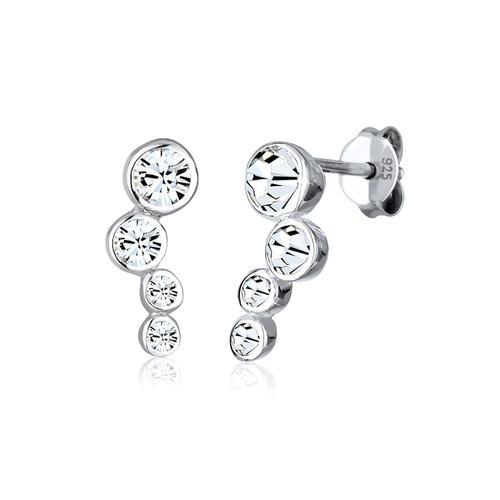 Ohrringe Basic Geo Trend Kristalle 925 Silber Elli Silber