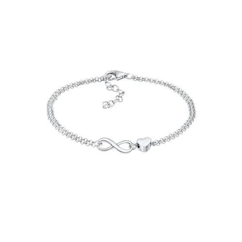 Armband Herz Liebe Unendlichkeit Infinity 925 Silber Elli Silber