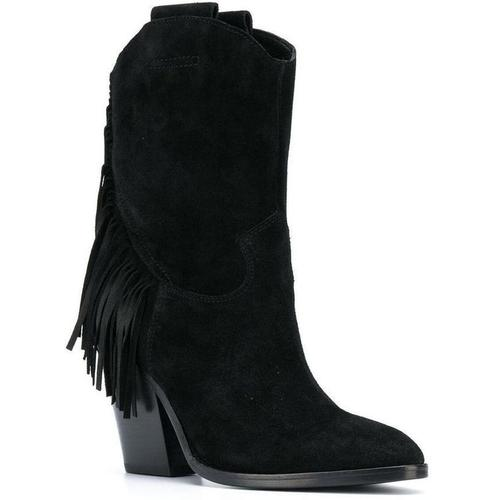 Ash Emotion Bis Suede Boots with fringes