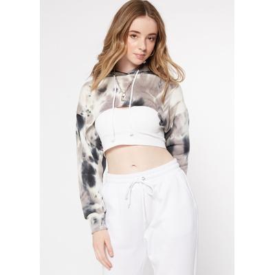 Rue21 Womens Black Tie Dye Extreme Crop Hoodie - Size S