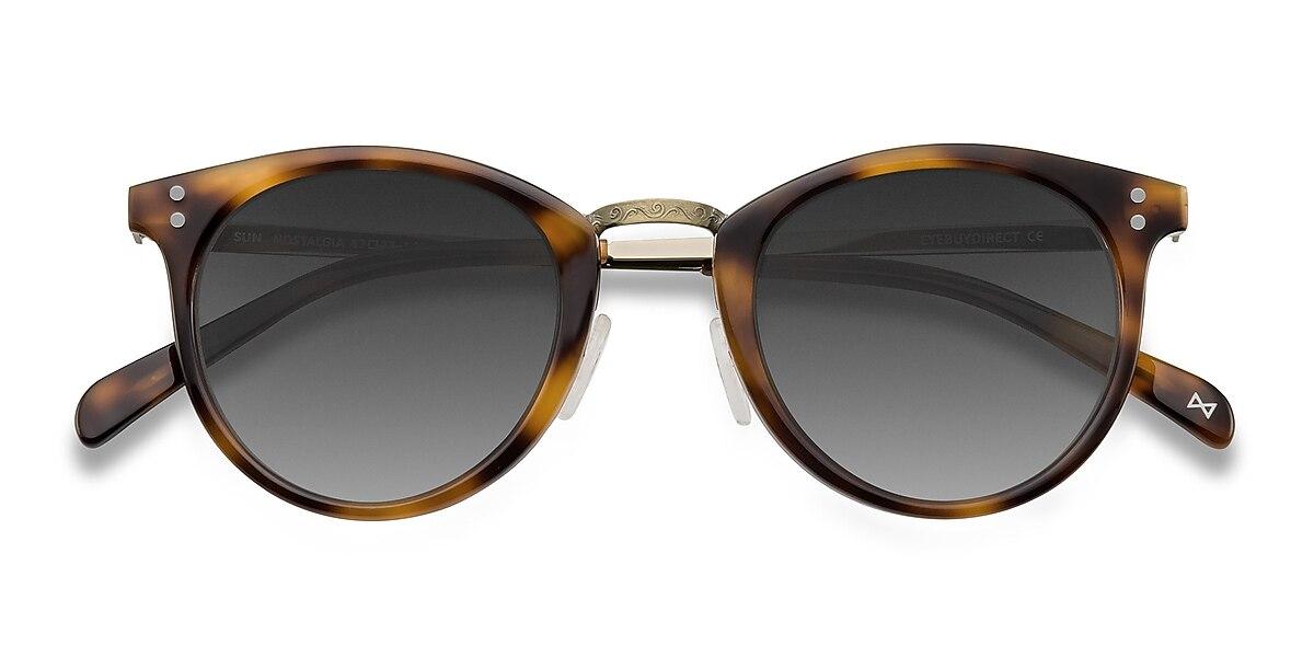 Female's Round Caramel Acetate Prescription sunglasses - EyeBuydirect's Sun Nostalgia
