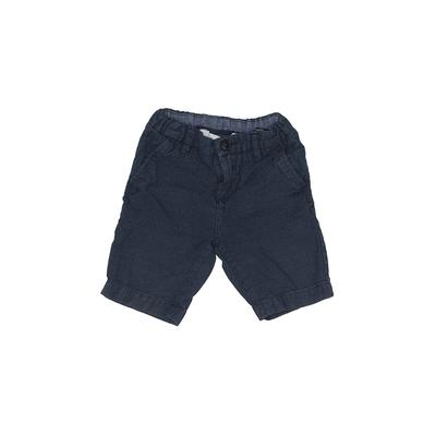 Zara Shorts: Blue Solid Bottoms ...