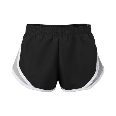 Soffe 081G Girls Team Shorty Short in Black/silver/white size Medium | Polyester