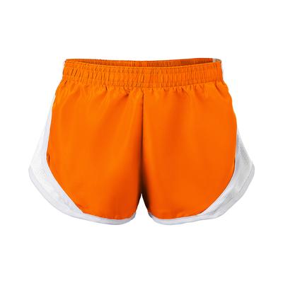Soffe 081G Girls Team Shorty Short in Orange/white size Large | Polyester