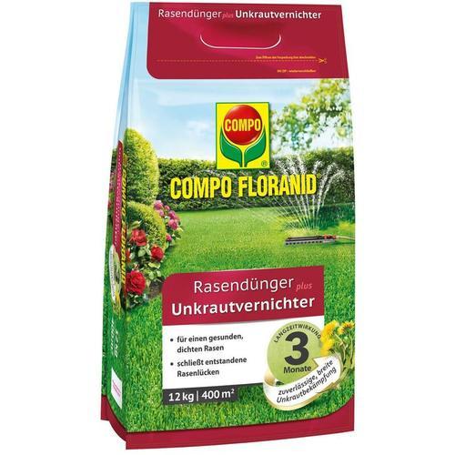 FLORANID® Rasendünger plus Unkrautvernichter 12 kg für 400 m² - Compo
