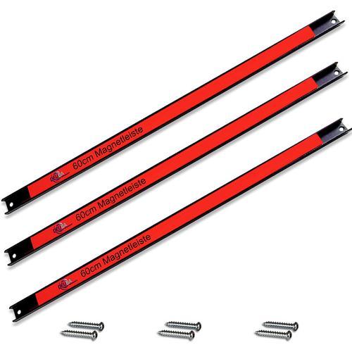 Magnetleiste Magnet Werkzeughalter Werkzeugleiste Werkzeug Halterung 23kg 3x 60cm