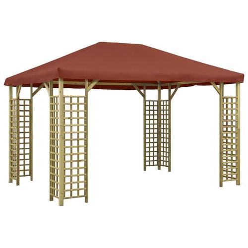 Pavillon 4 x 3 m Terrakotta-Rot