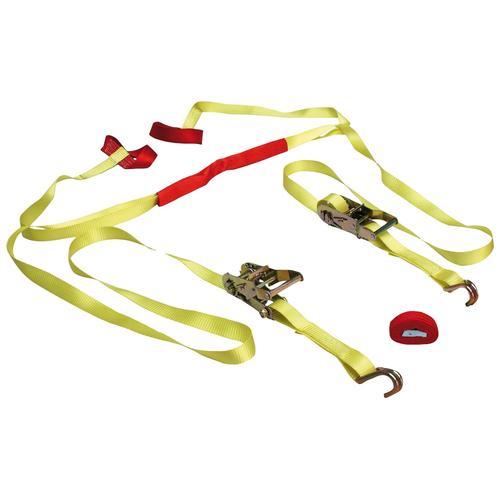 LAS Spanngurt, mit Ratsche und J-Haken gelb Auto-Aufbewahrung Autozubehör Reifen Spanngurt