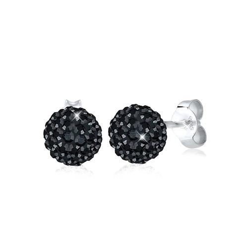 Ohrringe Glamour Swarovski® Kristalle 925 Silber Elli Schwarz