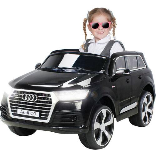 Kinder Elektroauto AUDI Q7 4M Highdoor SUV Kinderauto Elektrofahrzeug Spielzeug (Schwarz)