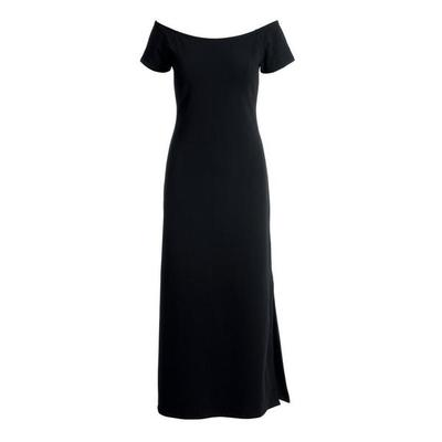 Boston Proper - Off-The-Shoulder Short-Sleeve Maxi Dress - Black - Small