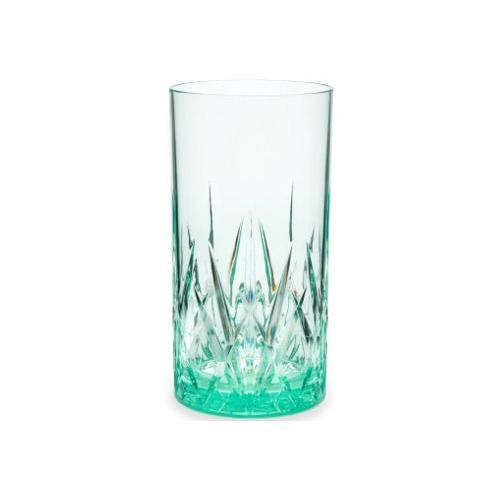 Q Squared NYC Longdrinkglas, (Set, 2 tlg., x Gläser), aus sicherem Material - TRITAN-Kunststoff, 500 ml, 2-teilig grün Cocktailgläser Longdrinkgläser Gläser Glaswaren Haushaltswaren Longdrinkglas