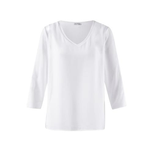 Alba Moda, Bluse mit Schulter- Cut Outs, weiß