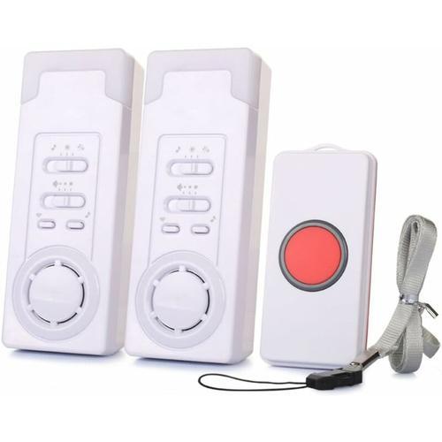 Bares - Mobiler Alarm Notruf Knopf Funk Senioren Krankenpflege Hausnotruf Pflege Überfall (2 in 1)