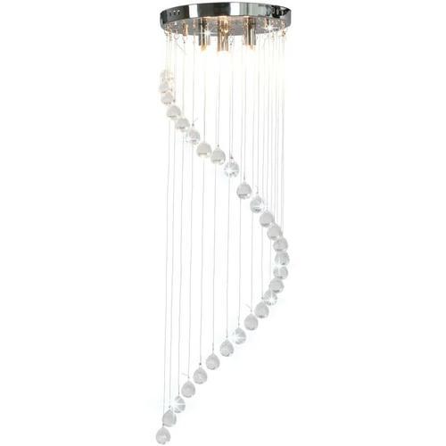 Topdeal Deckenleuchte mit Kristallperlen Silbern Spirale G9 23175