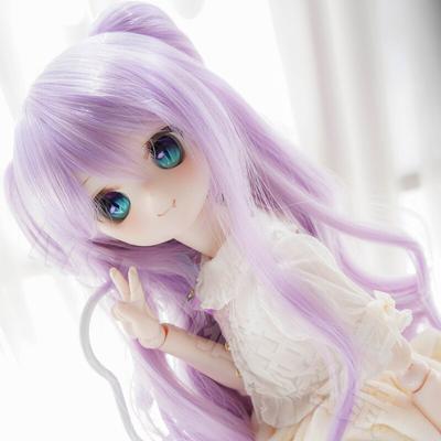 Perruques de poupée bouclées violettes 3 4 6 points, perruques de teinture fendue bjd 1/3 1/4 1/6,