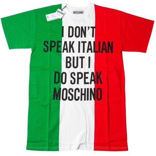 Moschino Italienisches Kleid mit Banbiera-Print