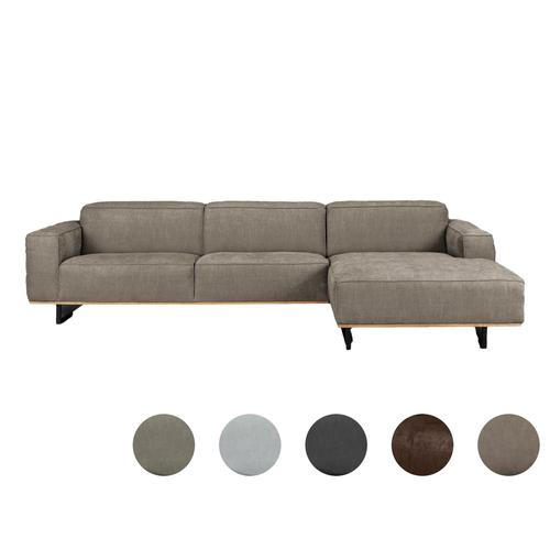 Carla & Marge »Pinorja« Sofa 4-Sitzer Récamiere rechts / Taupe