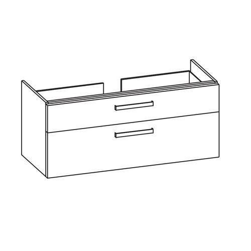 Artiqua 413 Waschtischunterschrank für iCon 124020 Castello Eiche quer NB, 413-WU2L-3-K04-7136-426 413-WU2L-3-K04-7136-426