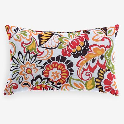 "20"" x 13"" Lumbar Pillow by BrylaneHome in Floral Sunshine"