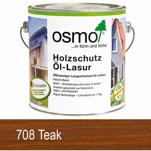 Osmo Holzschutz Öl-Lasur 0.75 L 708 Teak - size please select - color Teak - Teak