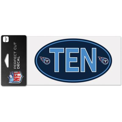 """WinCraft Tennessee Titans 4"""" x 8"""" Perfect Cut Team Decal"""