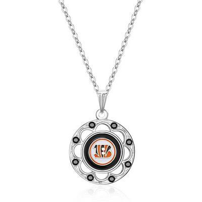 Women's Cincinnati Bengals Circle Pendant Necklace