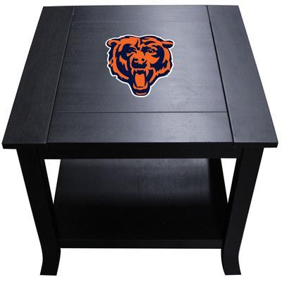 Black Chicago Bears Side Table