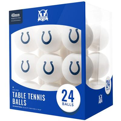 Indianapolis Colts 24-Count Logo Table Tennis Balls