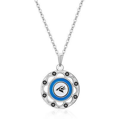 Women's Carolina Panthers Circle Pendant Necklace
