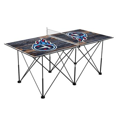 Tennessee Titans 6' Weathered Design Pop Up Table Tennis Set