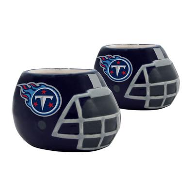 Tennessee Titans 2-Piece Ceramic Helmet Planter Set