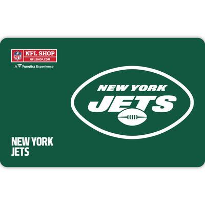 New York Jets NFL Shop eGift Card ($10 - $500)