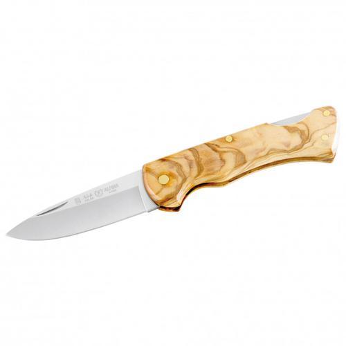 Nieto - Taschenmesser mit Olivenholzgriffschalen - Messer Gr 7,2 cm Klinge grün/ steel