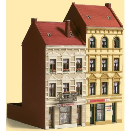 Auhagen Modelleisenbahn-Gebäude Stadthäuser Schmidtstraße 17/19, Made in Germany gelb Kinder Schienen Zubehör Modelleisenbahnen Autos, Eisenbahn Modellbau