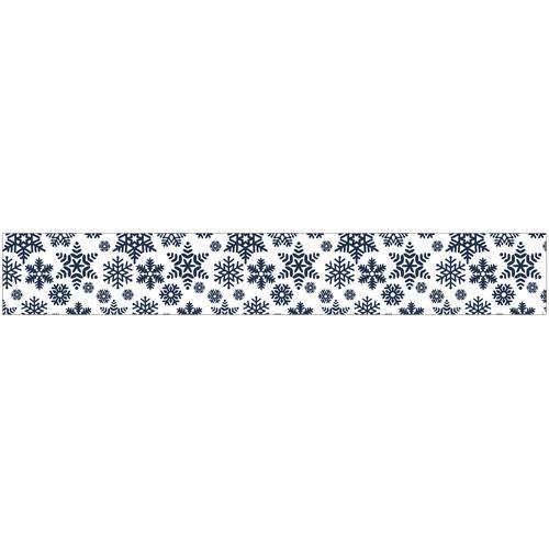 MySpotti Fensterfolie Eiskristall, 200 x 30 cm, statisch haftend blau Fensterdekoration Deko Wohnaccessoires